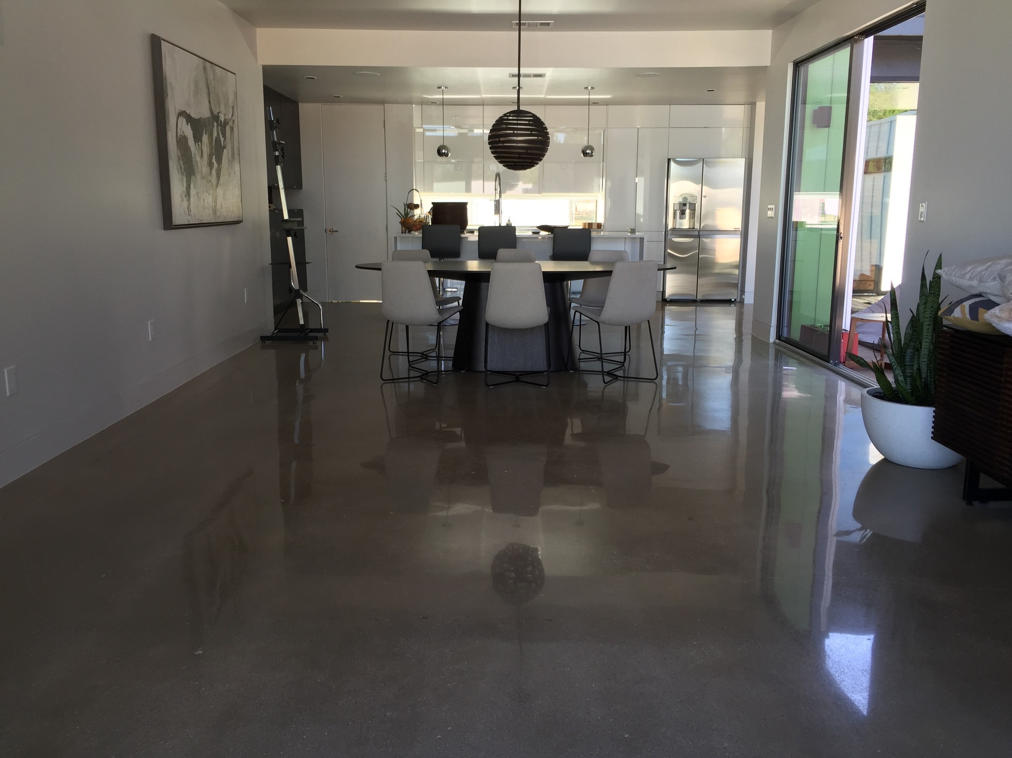 Residential Diamond Polished Concrete